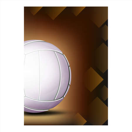 Volleyball Sport Event Promotional Poster Vector Illustration
