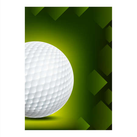 Golf Sport Annual Event Advertise Poster Vector