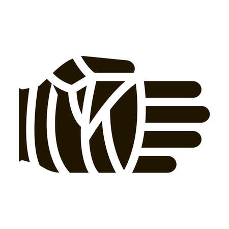 Fist in Protective Bandage Icon Vector Glyph Illustration Vektorgrafik
