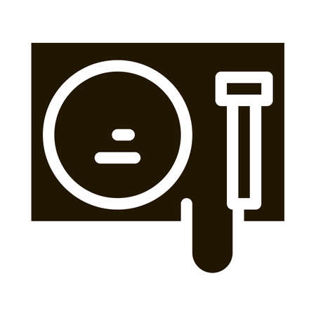 Gong Icon Vector Glyph Illustration