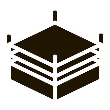Boxing Ring Top View Icon Vector Glyph Illustration Vektorgrafik