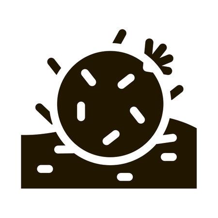 Cactus Icon Vector Glyph Illustration