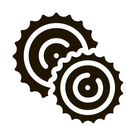 Cookies Breakfast Snack Icon Vector