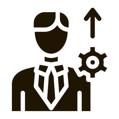 Human Productivity Growth Icon Vector