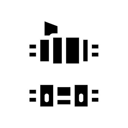 connected optical fiber glyph icon vector. connected optical fiber sign. isolated symbol illustration