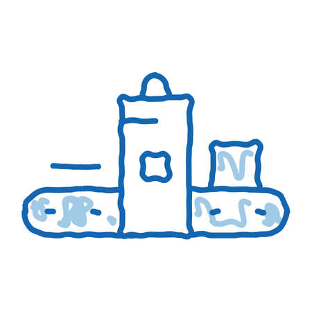Foundry Metallurgical sketch icon vector. Hand drawn blue doodle line art sign. isolated symbol illustration Vecteurs