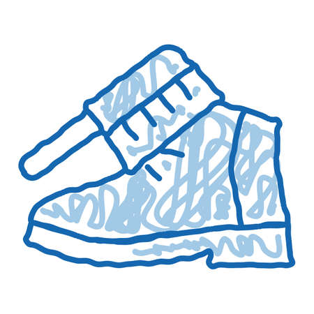 Shoe Brushing sketch icon vector. Hand drawn blue doodle line art Shoe Brushing sign. isolated symbol illustration