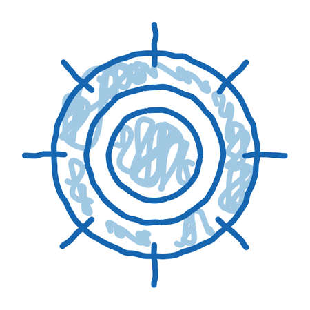 Scorching Sun sketch icon vector. Hand drawn blue doodle line art Scorching Sun sign. isolated symbol illustration