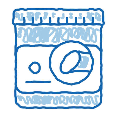 Sugar Container sketch icon vector. Hand drawn blue doodle line art Sugar Container sign. isolated symbol illustration