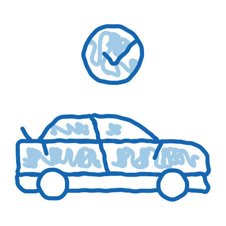 Fixed Car sketch icon vector. Hand drawn blue doodle line art Fixed Car sign. isolated symbol illustration
