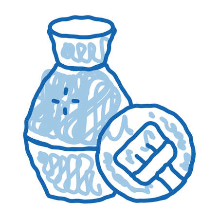 clay vase cleansing sketch icon vector. Hand drawn blue doodle line art clay vase cleansing sign. isolated symbol illustration