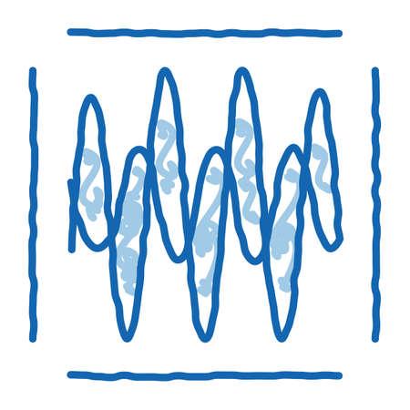 sound diagnostics sketch icon vector. Hand drawn blue doodle line art sound diagnostics sign. isolated symbol illustration Vector Illustratie