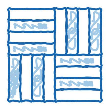 different linoleum tile designs sketch icon vector. Hand drawn blue doodle line art different linoleum tile designs sign. isolated symbol illustration
