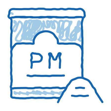 semolina kitchen jar sketch icon vector. Hand drawn blue doodle line art semolina kitchen jar sign. isolated symbol illustration