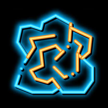 Crumpled Piece Of Paper neon light sign vector. Glowing bright icon transparent symbol illustration Ilustración de vector