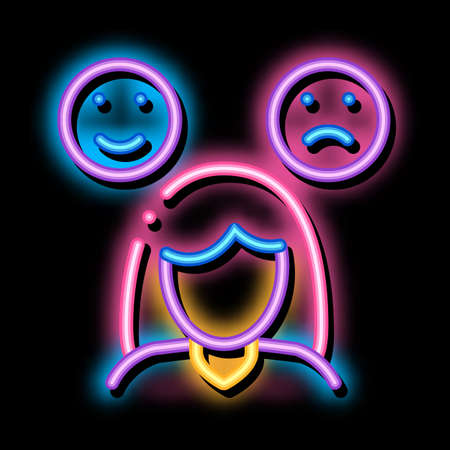 Sleepiness Symptomp Of Pregnancy neon light sign vector. Glowing bright icon transparent symbol illustration
