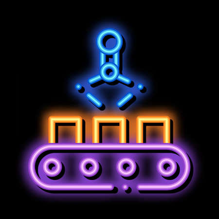 Manufacturing Product Selection Metallurgical neon light sign vector. Glowing bright icon sign. transparent symbol illustration