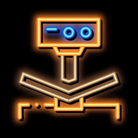 Breaking Tool Factory Metallurgical neon light sign vector. Glowing bright icon sign. transparent symbol illustration