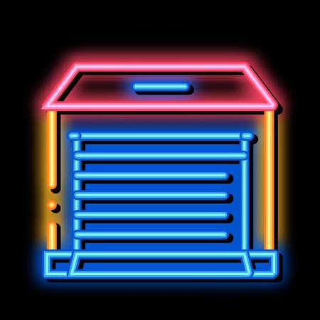 Garage neon light sign vector. Glowing bright icon Garage sign. transparent symbol illustration