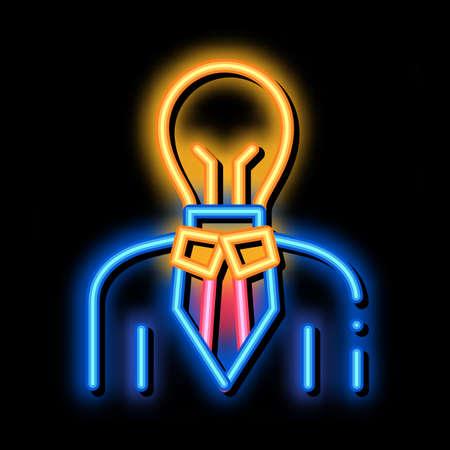 Savvy Man neon light sign vector. Glowing bright icon Savvy Man sign. transparent symbol illustration