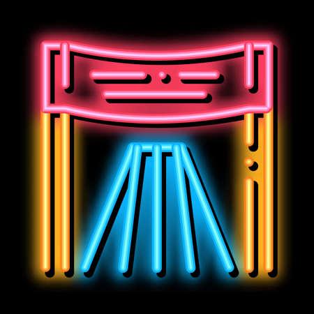 Athlete Personal Chair neon light sign vector. Glowing bright icon Athlete Personal Chair sign. transparent symbol illustration Ilustración de vector