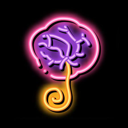placenta human neon light sign vector. Glowing bright icon placenta human sign. transparent symbol illustration