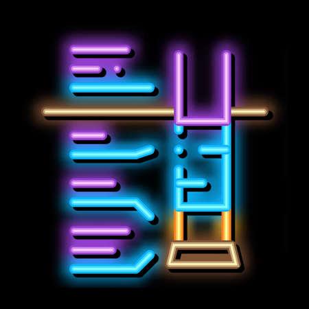 house foundation structure neon light sign vector. Glowing bright icon house foundation structure sign. transparent symbol illustration