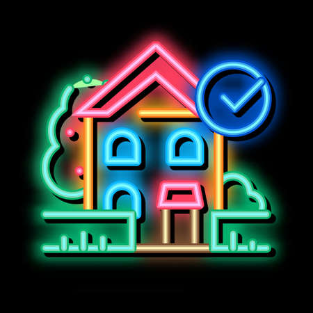 ecologically clean territory neon light sign vector. Glowing bright icon ecologically clean territory sign. transparent symbol illustration Vector Illustratie