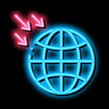 atmospheric pressure of planet neon light sign vector. Glowing bright icon atmospheric pressure of planet sign. transparent symbol illustration