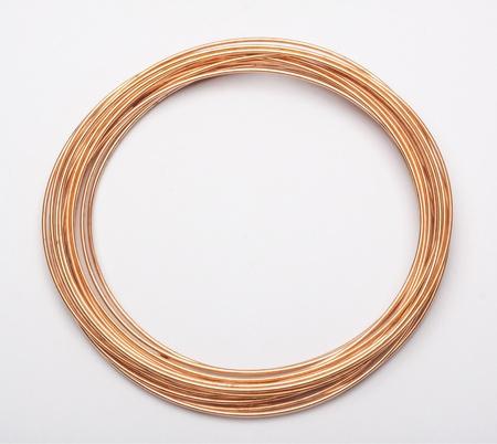 copper wire on white Stock Photo - 18421073