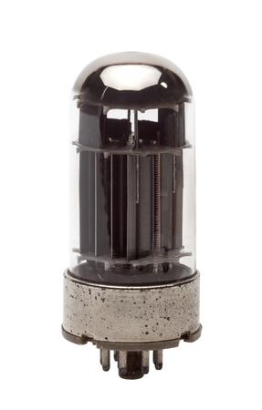Vintage Vacuum Tube 6080 WC on white photo