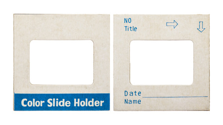 analogical: color slide holder card on white Stock Photo
