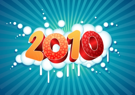 2010 new year composition. All elements are layered separately in vector file. Stock Vector - 18910659