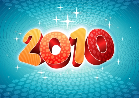 2010 abstract new year composition. All elements are layered separately in vector file. Stock Vector - 18910732