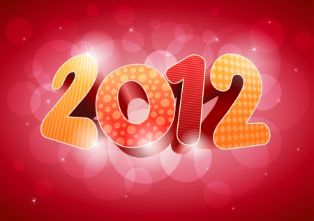 2012 New year design template. All elements are layered separately in vector file. Stock Vector - 18911077