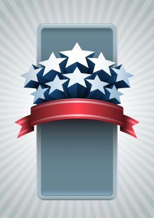 veterans day: Stars banner