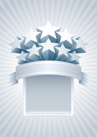 Stars banner. All elements are layered separately in vector file. Easy editable. Stock Vector - 18910900
