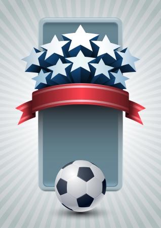 Vector illustration of Champiohship Soccer ball banner design. Stock Vector - 18910952
