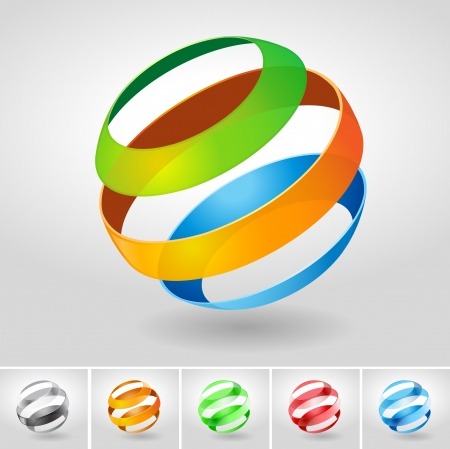 sphere icon: Vector transparency sphere symbol. Illustration