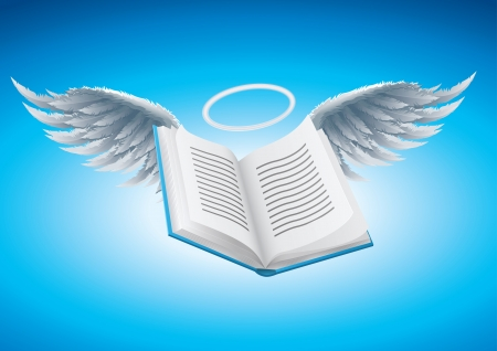 Angel book illustration  Vector