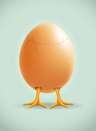 broken eggs: little legs  Detailed illustration