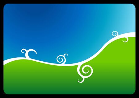 rounding: Blue-green abstract vector background