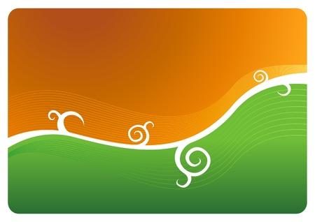 Orange-green abstract vector background Stock Vector - 18910569