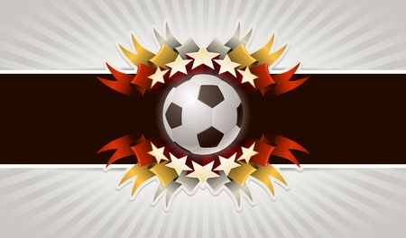 Five stars soccer. Vector illustration of vintage football banner.  Vector