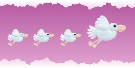 seamless bird wallpaper vector illustration Stock Vector - 18910485