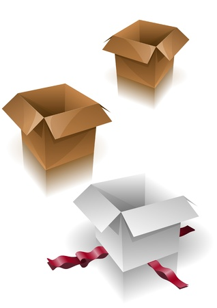 Boxes vector illustration. All elements are layered separately in vector file. Stock Vector - 18910473
