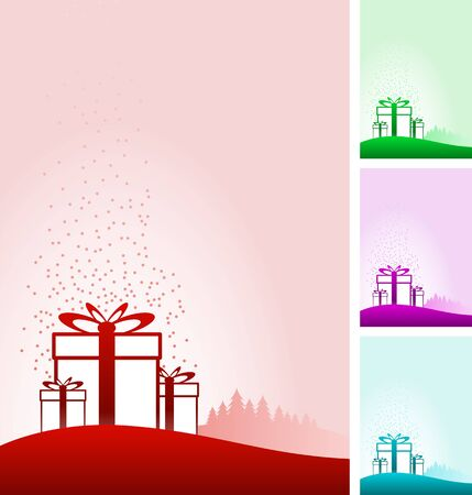 gift boxes background set. Stock Vector - 18910737