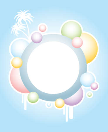 summer holidays: abstract colorful bubbles banner series Illustration