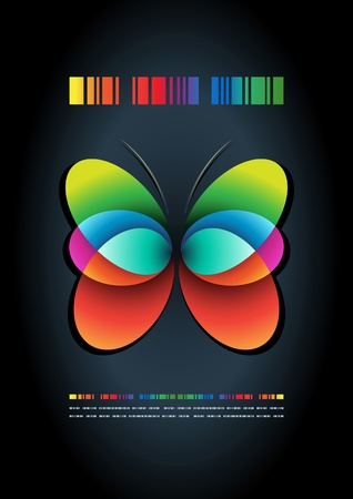 abstract butterfly poster template Stock Vector - 18923040