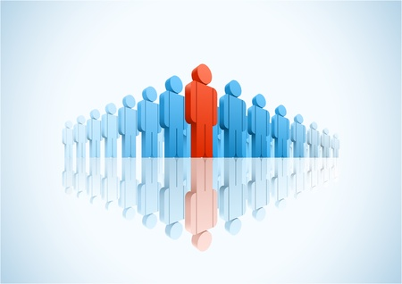 3d vector group of people illustration Stock Vector - 18910928